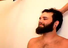 Bearded Bitch Boy Anal Pegging Milk Tit Squirt