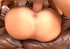 Wondrous gal with big tits rides her man's dick like a cowgirl