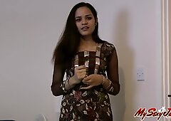 indian sexy Jasmine shows her lovely naked boobs and pussy