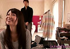 Tiny nippon babe fingered in trimmedpussy