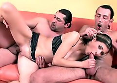 Black haired blowlerina Kristina is mad about riding stiff dicks for delight