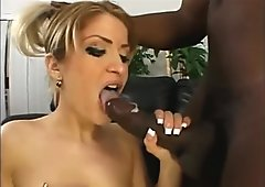 Tight White Pussy Stuffed With Big Black Cock