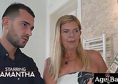 Joven dominante John Licks, Dediar y Sexo Old Woman Samantha