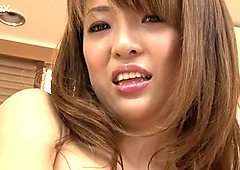 Now that Sayaka Fukuyama is all oiled up she is ready for a threesome