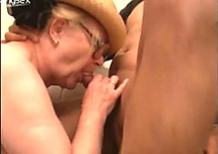 Old bag Mrs Fire has nothing against pleasing two cocks