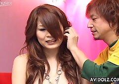 Naughty Japanese babe Yuki Aida gets her horny snatch pleasured with toys