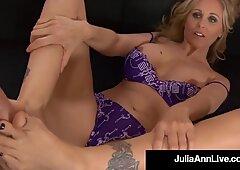 Mouth Fucking Foot Fox Julia Ann Spits Jizz On Feet After BJ