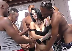 Katrina Jade sucks many black cocks