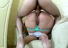 Son fucks stepmom with anal sex in a big and thick ass. Mother & stepon sex