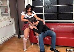 Hot BBW shemale Khloe Hart gets a nice blowjob