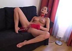 Little Caprice is sexy Red Devil