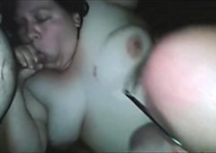 BBW Gets her Hairy Pussy Banged by 2 Men
