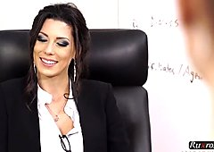Office Boss Alexa Tomas Gets Dominated By Two Cocks