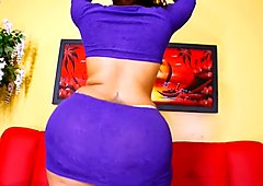 Big Booty Latina Scarlett - Purple Skirt OMG!