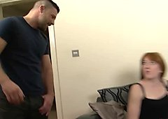 Adorable red hair babe rubbing her cunt and fucking wildly