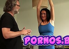 Restrained MILF Jess Scotland Dominated And Roughly Fucked by PORNOS.BE