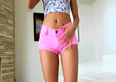 Cutest teen strips for big cock sex