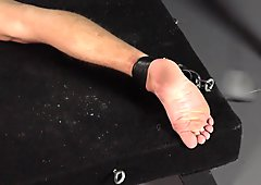 Whipping Feet - Squirming Twink Foot Whipping BDSM Whip