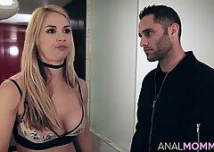Big boobs mom Sarah Vandella handles dick with her butt hole