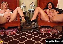 BBWs Angelina Castro & Samantha 38G Have Huge Ass Boobs!