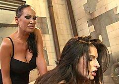 Anna Marie La Sante lick the fingers of a horny slut