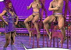 DRAG QUEENS FROM OUTER SPACE Scifi 3D Gay Toon Anime Comics