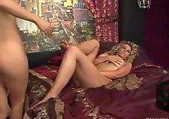 Scorching Alisha King gives her friend an erotic massage on her sweet feet