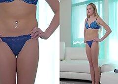 Netvideogirls - Blonde Teen gets an ambush creampie at Calendar Audition