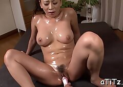 Busty Japanese wet masturbation