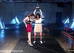 First Time Lesbian Electro Bondage